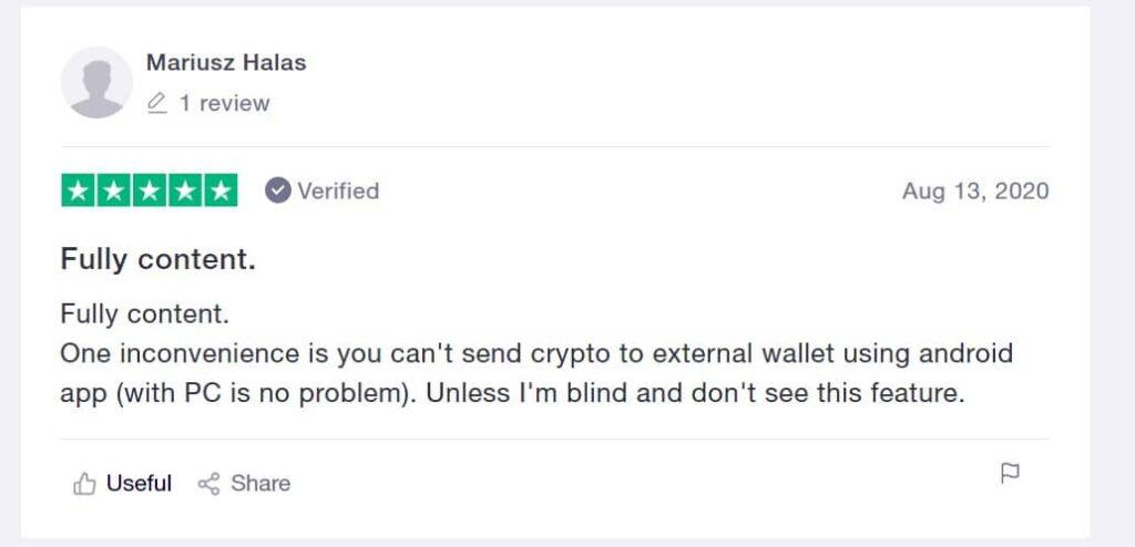Bitvavo trustpilot recensie 2 wallet transaction