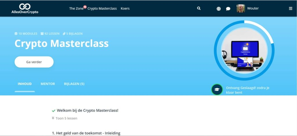 crypto masterlass cryptocurrency cursus overzicht