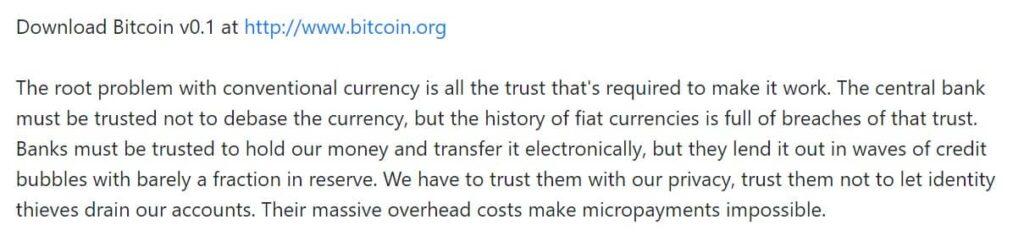 Citaat uit document Wat is Bitcoin