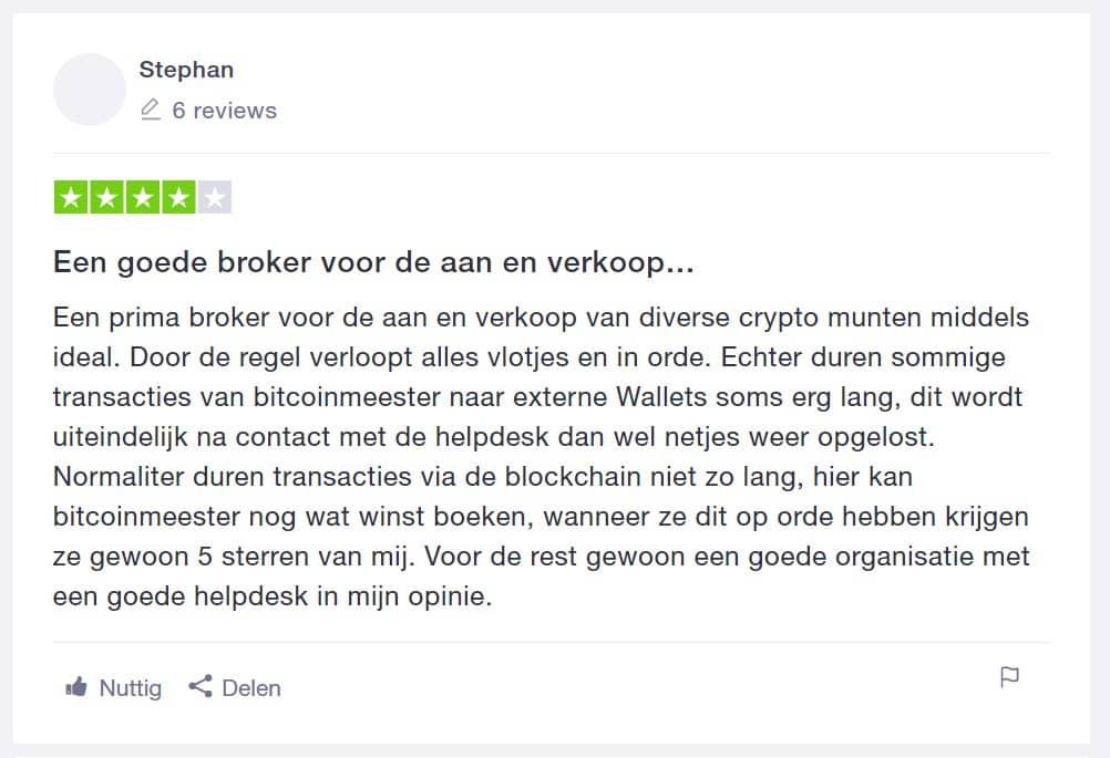 Bitcoin Meester eerlijke ervaring trustpilot