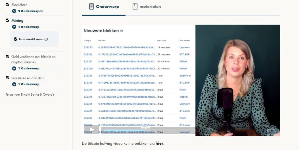bitcoin basics en crypto's review: screenshot videoles minging