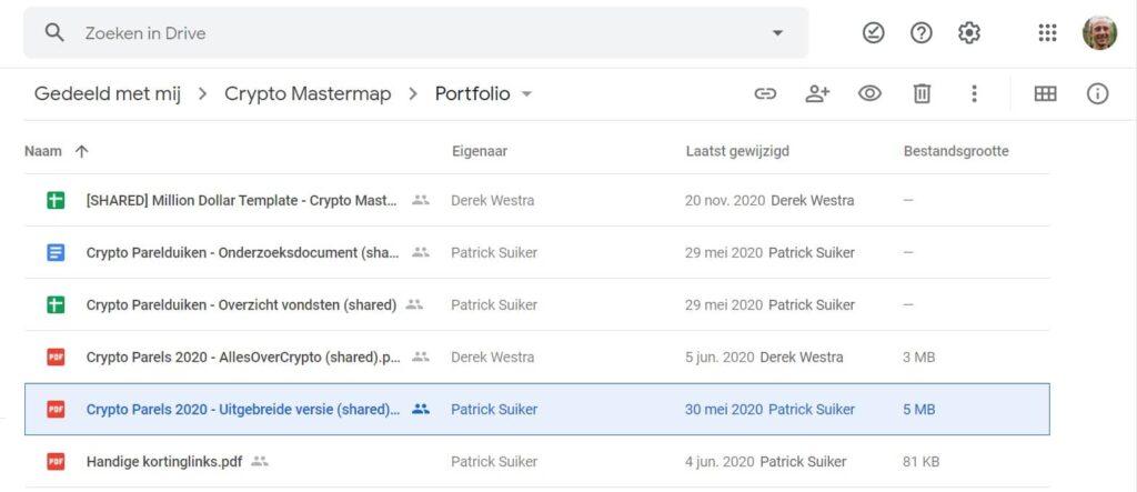crypto parels: het portfolio en tools