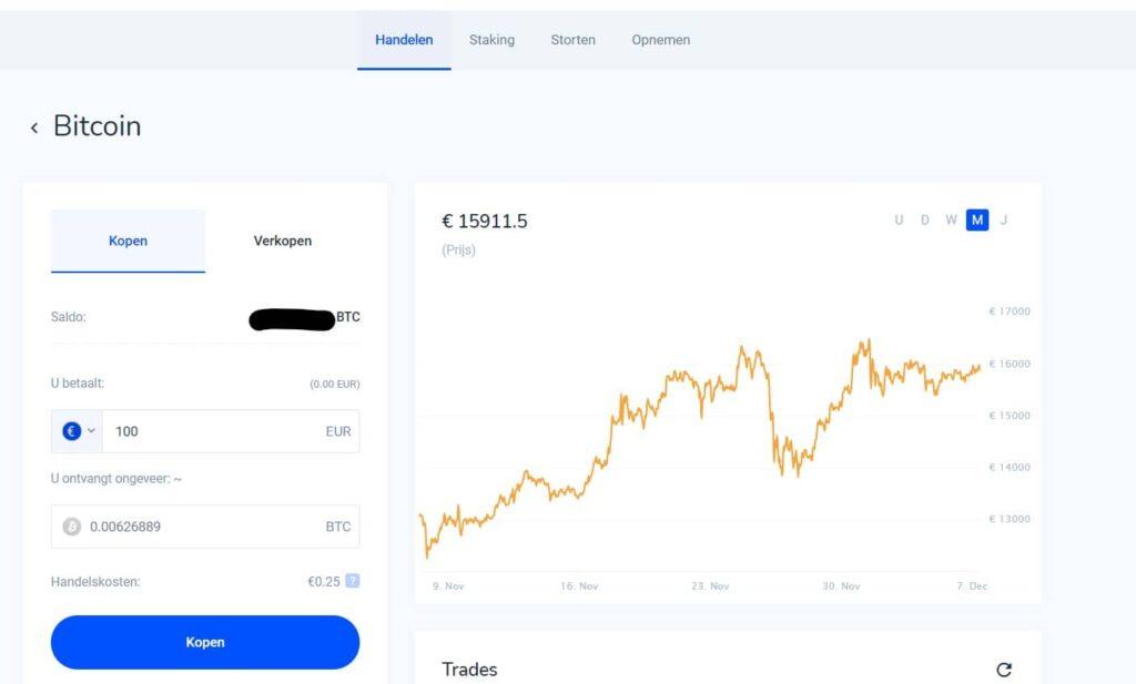 Bitcoin kopen met Bitvavo