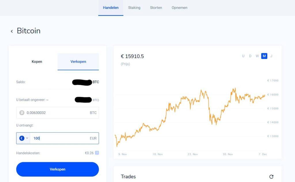 Bitvavo uitleg- Hoe Bitcoin verkopen