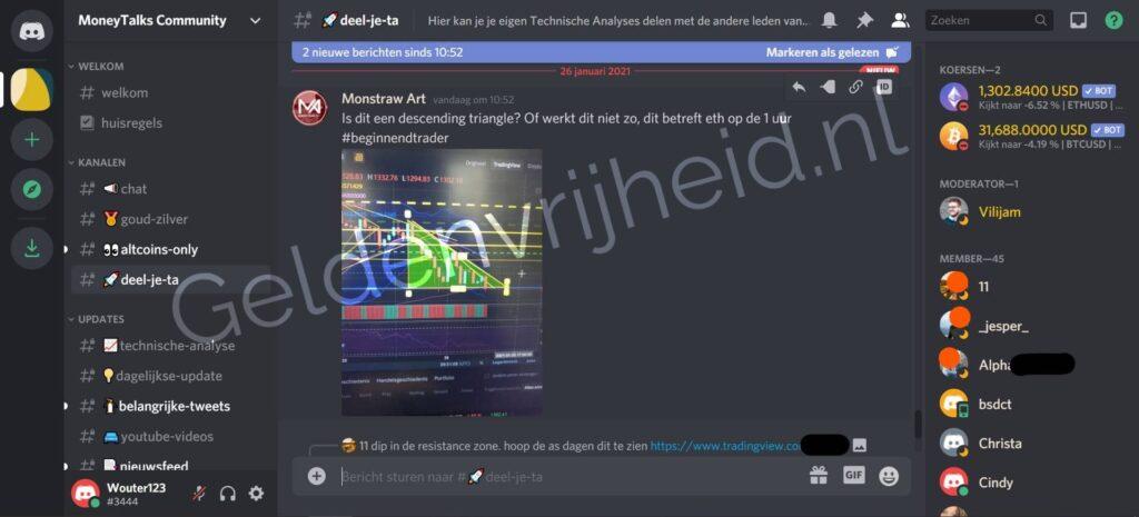 MoneyTalks Community deel je ta screenshot