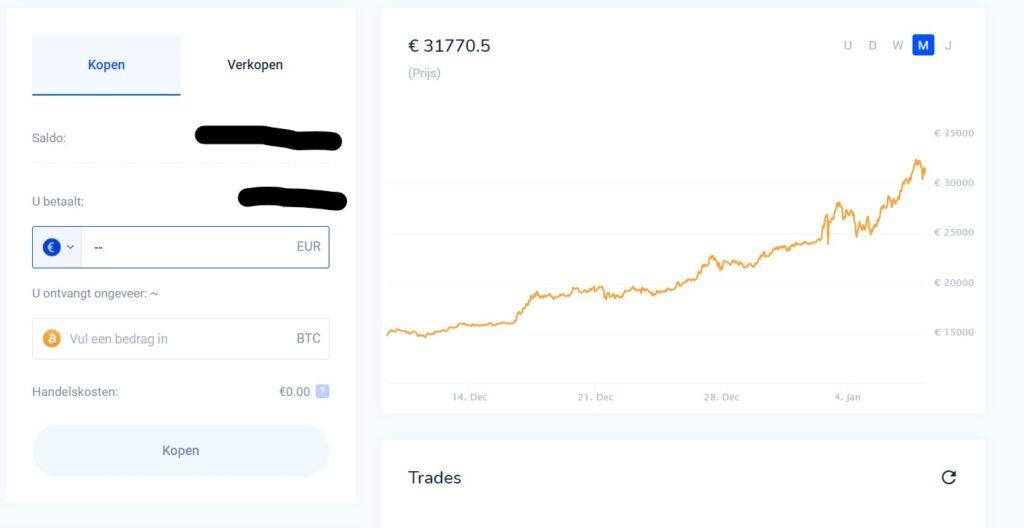 crypto kopen de laatste stap bij Bitvavo
