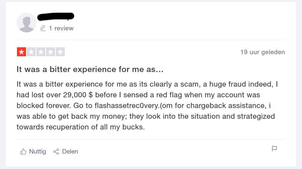 Bittrex slechte ervaring