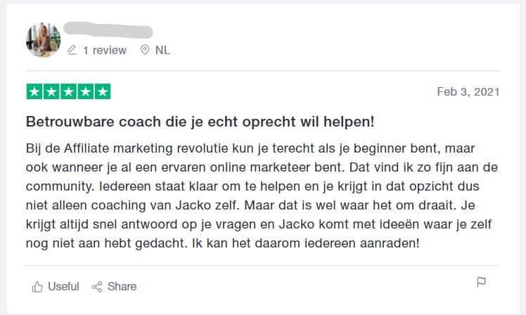 Affiliate Marketing Revultie review Jacko Meijaard