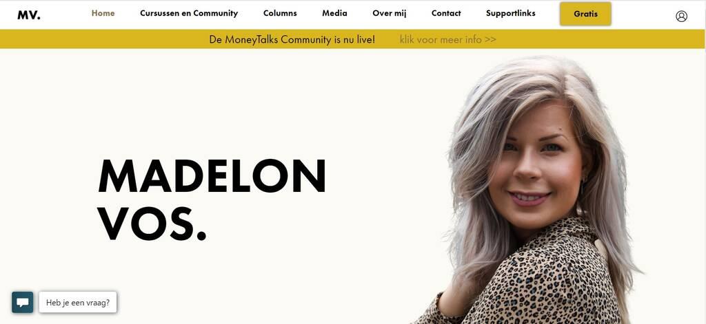 Madelon Vos Website - screenshot Madelonvos.nl