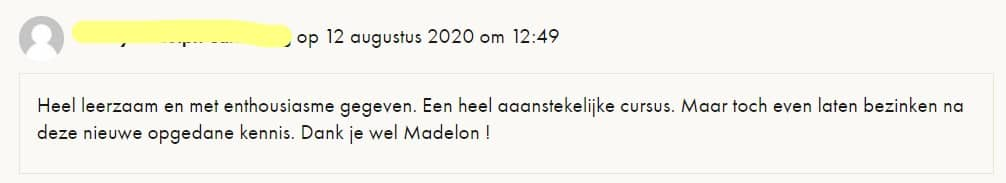 Madelon Vos ervaring
