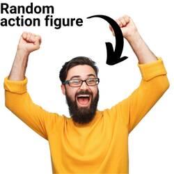 exited random figure