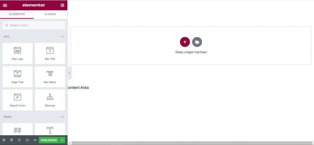 affiliate website maken in Wordpress Elementor from scratch